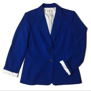 Tahari | Blue Striped Blazer Jacket | 8 Medium